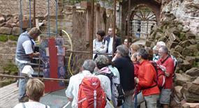 Visite guidée du château du Schoeneck, Dambach