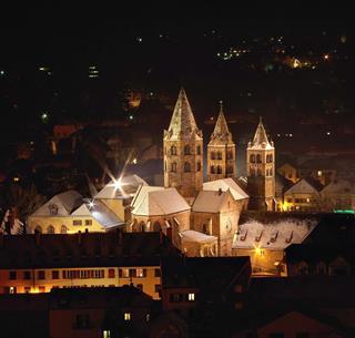 Vue hivernale de l'église Saint Léger de Guebwiller, © Guy Würth