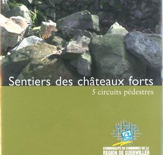 Couverture du topo guide de randonnée 'sentiers de châteaux forts'