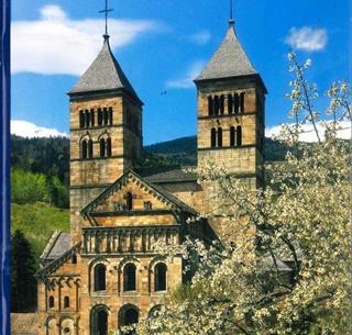 Couverture du livret sur l'Abbaye de Murbach par Philippe Legin